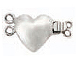 Sterling Silver 2-Strand Heart Box Clasp