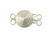 Sterling Silver 2-Strand Round Box Clasp