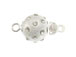 Sterling Silver Round Ball Box Clasp With Clear Crystals