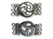 Sterling Silver Round 3-Strand Open Spiral Clasp