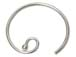 Sterling Silver Earwire With Circle Ball End 22 ga (.66mm)