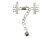 Sterling Silver 2-Strand Clasp Unit With Lobster Claw & Extender Chain