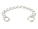 Sterling Silver 2 Inch Curb Link Extender Chain With Split Ring End