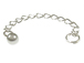 Sterling Silver 2.25 Inch Curb Link Extender Chain With Split Ring And Ball Accent