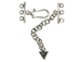 Sterling Silver 3-Strand Clasp Unit With J Hook & 2 Extender Chain With Triangle Charm