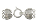 Sterling Silver 3-Strand Fancy Hook & Eye Clasp *Bulk Pack of 25*