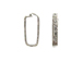 Sterling Silver Rectangle Textured Link Lock