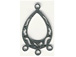 Sterling Silver: 1-3 Filigree Flat Pear Shape Chandelier Earring Link