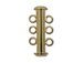 3 Strand Slider Clasp - Gold Plated