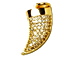 CZ Pave Pendant 15mm Horn Pendant, Gold Finish