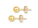 14K Gold-Filled 3mm Ball Post Earring  with Clutch, 1 Pair
