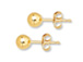 14K Gold-Filled 4mm Ball Post Earring  with Clutch, 1 Pair