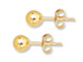 14K Gold-Filled 5mm Ball Post Earring  with Clutch, 1 Pair