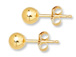 14K Gold-Filled 6mm Ball Post Earring  with Clutch, 1 Pair