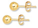 14K Gold-Filled 7mm Ball Post Earring  with Clutch, 1 Pair