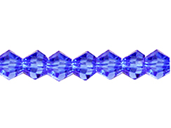 Med. Sapphire 3mm Bicone Bead - Thunder Polish Glass Crystal