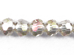 Champagne Silver AB 6mm Round Bead - Thunder Polish Glass Crystal