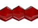 Ruby Jade 3mm Bicone Bead - Thunder Polish Glass Crystal