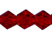 Dark Red 4mm Bicone Bead - Thunder Polish Glass Crystal
