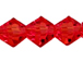 Red 4mm Bicone Bead - Thunder Polish Glass Crystal