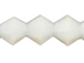 White Jade 4mm Bicone Bead - Thunder Polish Glass Crystal