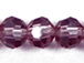 Amethyst 6mm Round Bead - Thunder Polish Glass Crystal