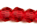 Red 6mm Round Bead - Thunder Polish Glass Crystal