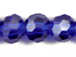 Sapphire 6mm Round Bead - Thunder Polish Glass Crystal
