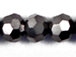 Hematite 6mm Round Bead - Thunder Polish Glass Crystal