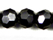Gun Metal 6mm Round Bead - Thunder Polish Glass Crystal