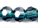 Teal 6mm Round Bead - Thunder Polish Glass Crystal