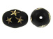 Black Oval Acrylic Bead with Gold Stars