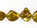 Nugget Glass Bead Strand - Gold