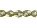 Small Glass Bead Strand with Gold Stardust Coating - Pale Blue