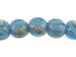 Round 12mm Foiled Glass Bead Strand - Blue