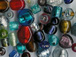 Silver Foil Lampwork Glass Beads Sweep Mix from India