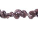 Fancy 27mm Lampwork Twist Bead - Purple