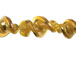 Fancy 27mmLampwork Twist Bead - Gold