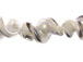 Fancy 27mm Lampwork Twist Bead - White