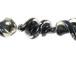 Fancy 27mm Lampwork Twist Bead - Black