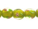 Lampwork 12mm Round Floral Glass Bead Strand - Yellow