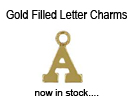 Gold-Filled Block Letter Charms