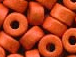 Orange - 6x4mm Greek Ceramic Beads