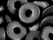 Black - 8x2.5mm Greek Ceramic Washer