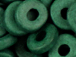 Dark Green - 8x2.5mm Greek Ceramic Washer