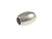 1000 - 6.5x4.75mm Oval Bead  Nickel Plated