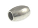 1000 - 11x7mm Oval Bead  Nickel Plated