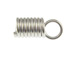 1000 - End-Spring with Loop for 3mm Cord  Nickel Plated