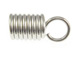 1000 - End-Spring with Loop for 5mm Cord  Nickel Plated
