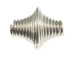 1000 - 12mm Coiled Diamond Bead  Nickel Plated
